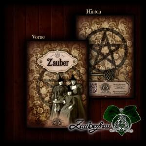 Notizbuch Zauber - Vorder- und Rückseite